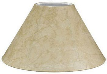 Faux Leather Coolie Shade with White Lining