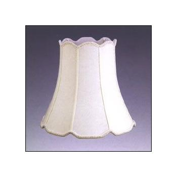 V Notch Silk Shantung Lampshade with Fabric Lining