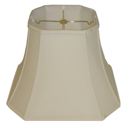Square Cut Corner Silk Shantung Lampshade with fabric lining