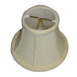 Silk Shantung Bell Chandelier Lampshade with fabric lining