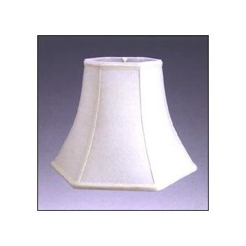 Hexagon Bell Silk Shantung Lampshade with Fabric Lining