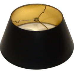 round black parchment lamp shade with gold foil lining lamp shades. Black Bedroom Furniture Sets. Home Design Ideas