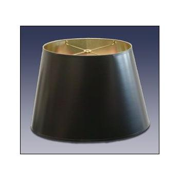 Standard Oval Black Parchment Lampshade with gold foil lining