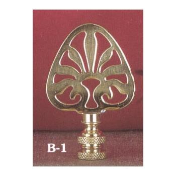 Solid Brass Ideogram spade shape Lamp Finial