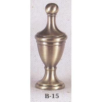 Solid Brass Antiqued Urn Lamp Finial