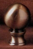 Sphere 30mm Lamp Finial in Antique Brass