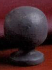 Sphere 25mm Lamp Finial in Bronzed Iron