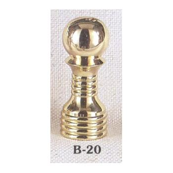Solid Brass Lamp Finial