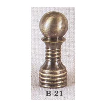 Solid Brass Antiqued Lamp Finial