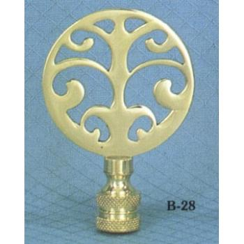 Solid Brass Tree Lamp Finial