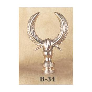 Solid Brass Wreath Lamp Finial