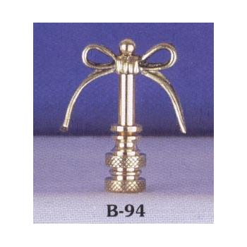 Solid Brass Petite Bow Lamp Finial
