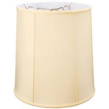Silk Shantung Flat Drum Lampshade with Fabric Lining