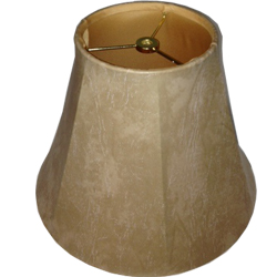 Faux Leather Empire Lampshade with Gold Fabric  Lining