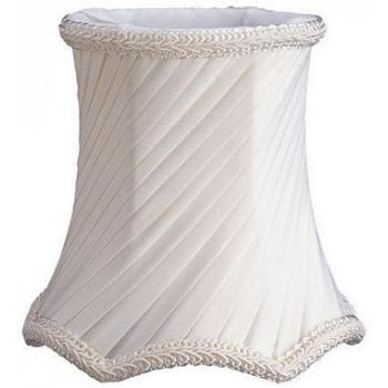 Bell Scallop Bottom Polyesterd Swirl Pleat Chandelier Lampshade with Fabric Lining