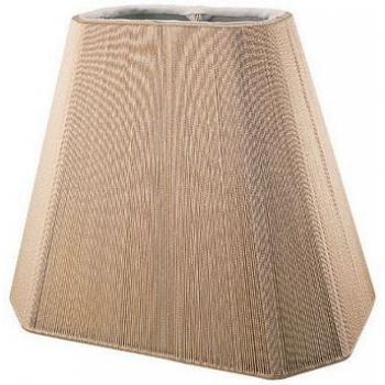 Rectangle Cut Corner Silk String Lampshade with Hand Sewn Soft Lining