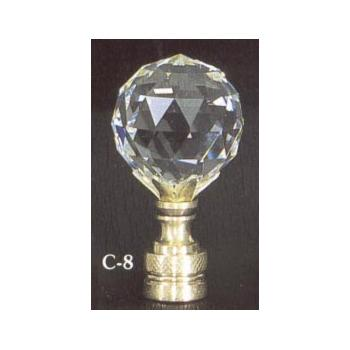 Crystal Ball 30mm Lamp Finial