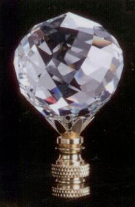 Faceted Ball 40mm Lamp Finial in Crystal