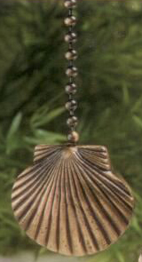 Antique Metal Mini Scallop Shell Fan Pull Chain