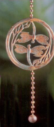 Tuscan Antique Double Dragonfly Fan Pull Chain