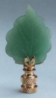 Adventurine Leaf Fan Pull Chain