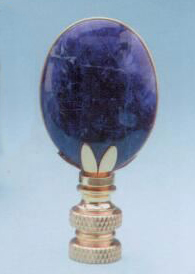 Oval Lamp Finial in Lapis