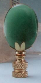Oval Lamp Finial in Adventurine