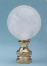 Ball 30mm Lamp Finial in Rock Crystal