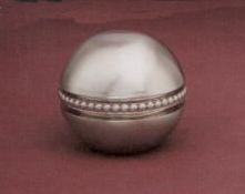 Beaded Ball 25mm Lamp Finial in Brushed Nickel