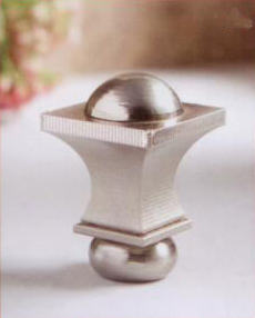 Squared Urn Lamp Finial in Brushed Nickel
