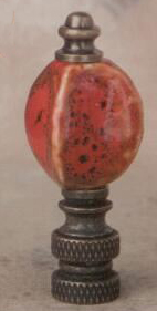 Pomegranate Bead Lamp Finial in Porcelain & Ceramic Finial