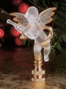 Cherub Lamp Finial in Acrylic Santa's Workshop Finial