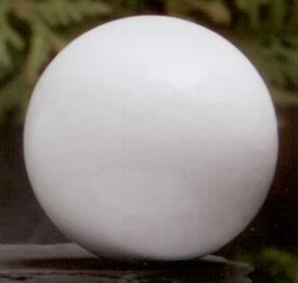 White Ball 1.75 inch Lamp Finial in Wood Finial