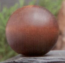Mahogany Ball 1.25 inch Lamp Finial in Wood Finial