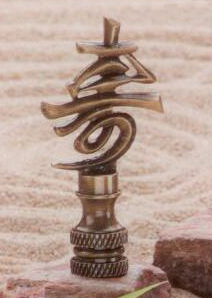 Longevity Lamp Finial in Antique Metal