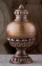 Stately Urn Lamp Finial in Antique Metal