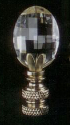 Radiance Lamp Finial in Crystal