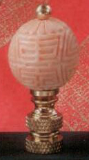 Cinnabar Ivory Ball Lamp Finial