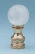 Ball 20mm Lamp Finial in Rock Crystal