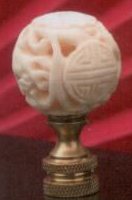 Long-Life Bead Lamp Finial in Bone
