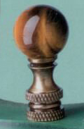 Ball 20mm Lamp Finial in Tiger Eye
