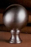 Sphere 32mm Lamp Finial in Brushed Nickel