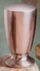 Sleek Cylinder Lamp Finial in Brushed Nickel