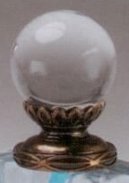 Polished Ball 30mm Lamp Finial in Acrylic Scrolled-Base Finial