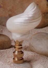 Silver Mouth Lamp Finial in Seashell Finial