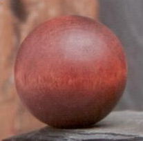 Chestnut Ball 1.25 inch Lamp Finial in Wood Finial