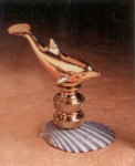 Brass Dolphin Lamp Finial