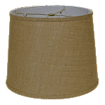 Burlap Regular Hard Back Drum Lampshade