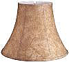 Bell Faux Leather Lampshade with White Lining
