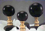Black Ceramic Ball 35mm with Brushed Nickel base